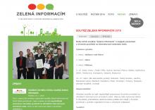Webové stránky Zelená informacím
